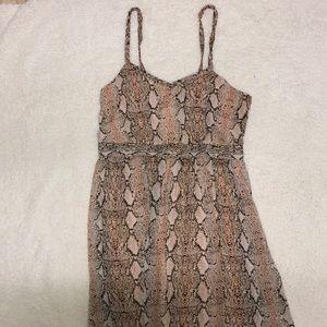 Light Pink Snake Skin Maxi Dress!!